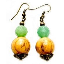 Load image into Gallery viewer, Mountain Spring Aventurine Earrings