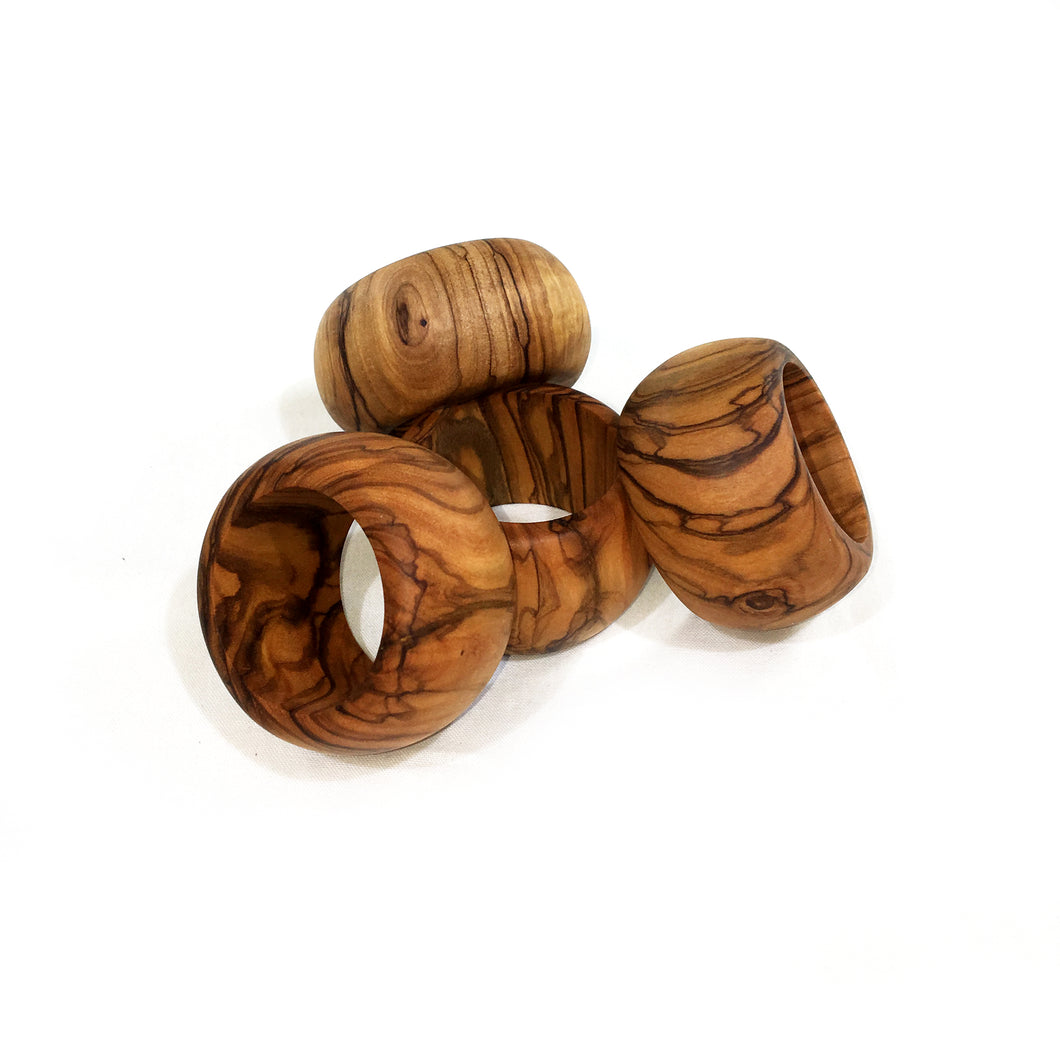 Olive Wood Napkin Rings