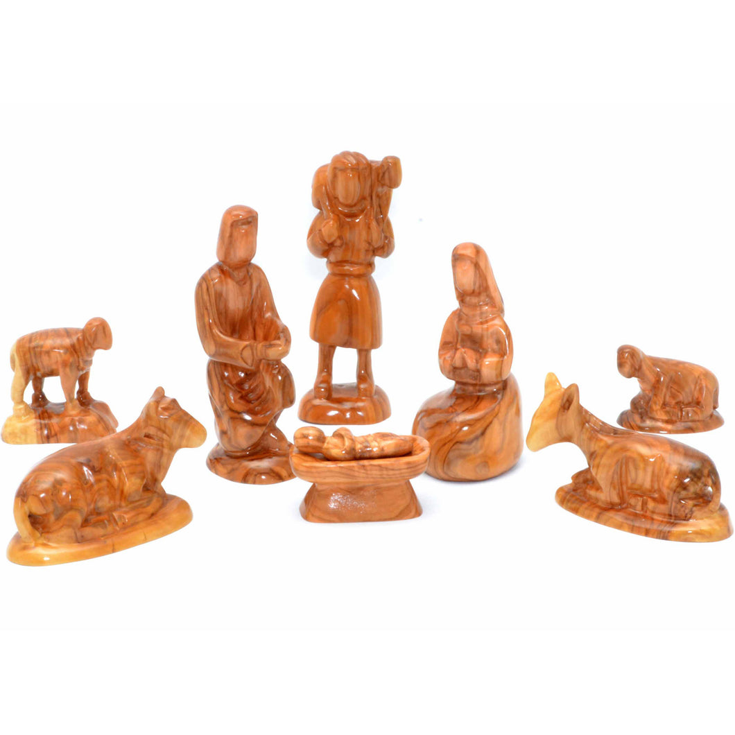 Olive Wood Nativity Set (9 Piece)
