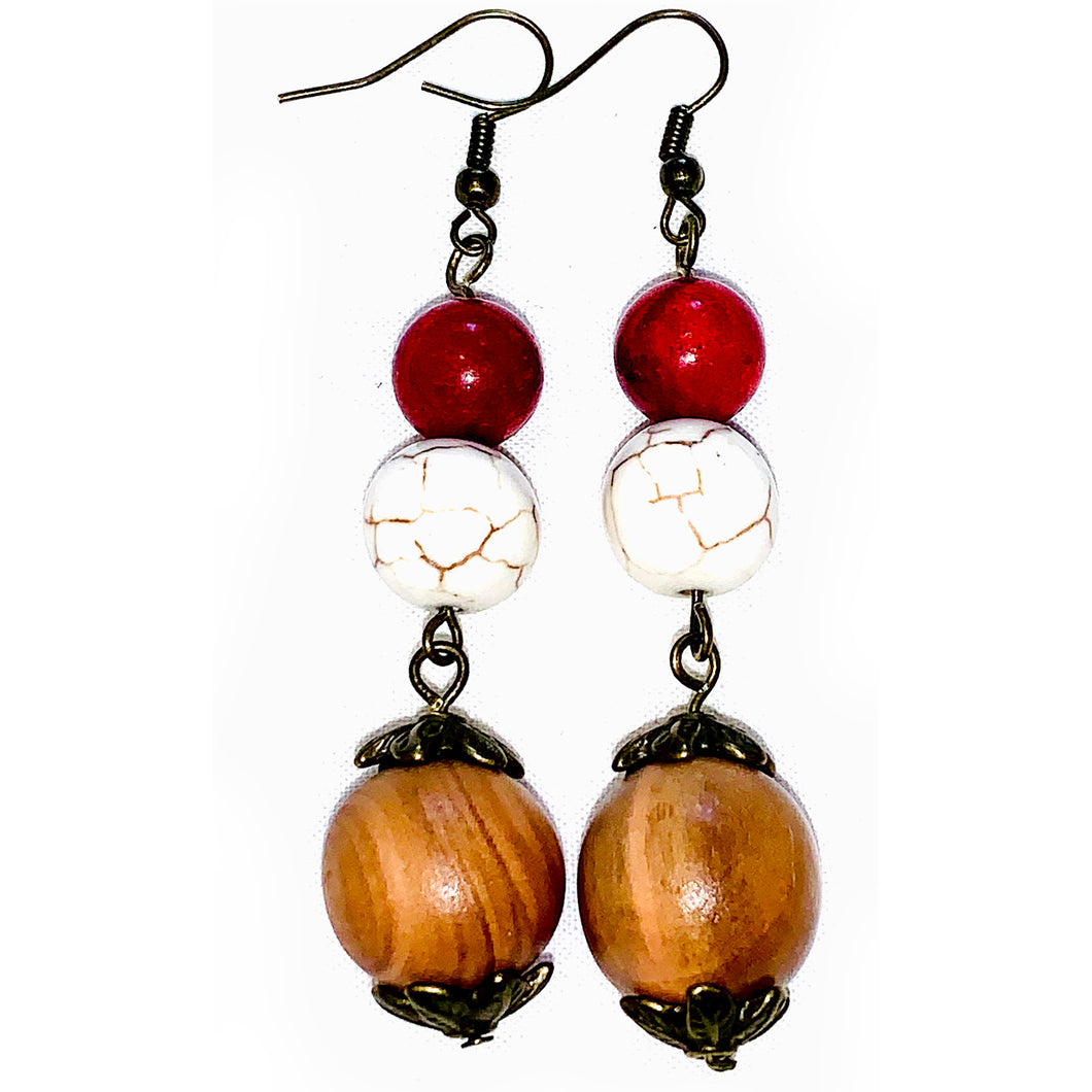 Out & About Howlite Earrings