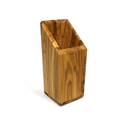 Olive Wood Pen and Pencil Holder (Vertical 6cm x 6 cm)