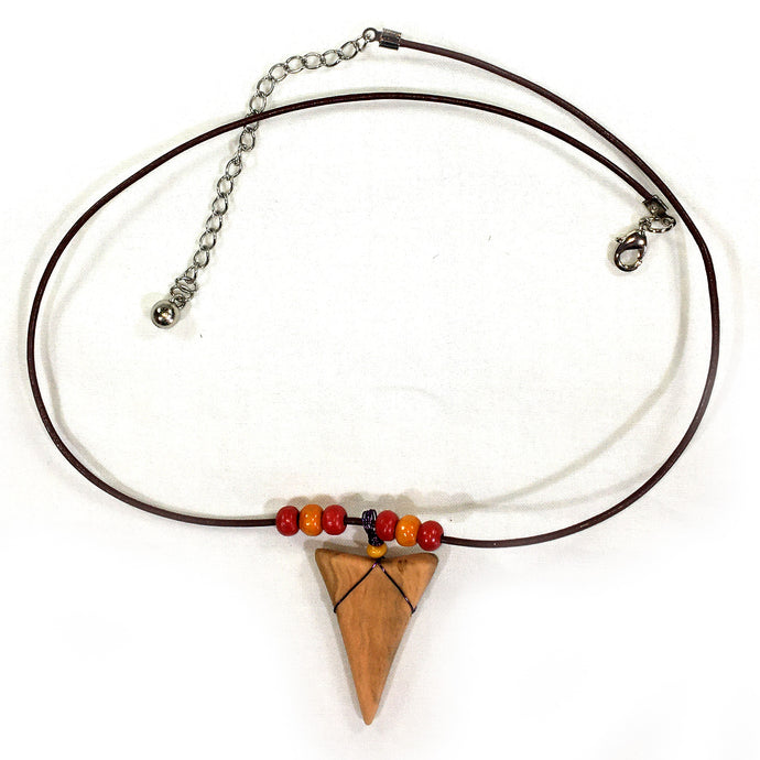 Shark tooth Necklace - Red and Orange