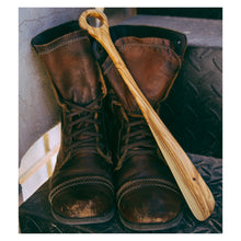 Load image into Gallery viewer, Olive Wood Shoe Horn
