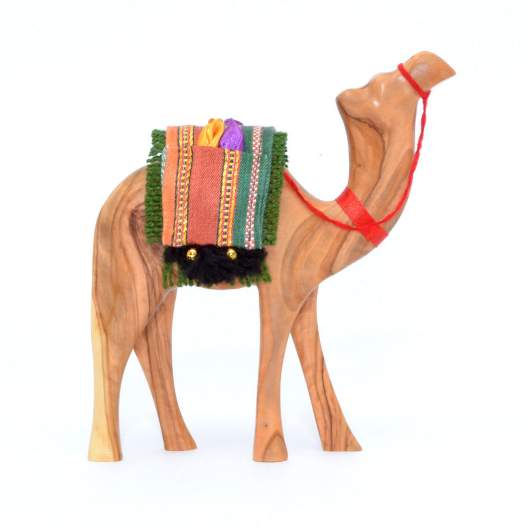 Olive Wood Camel Figures
