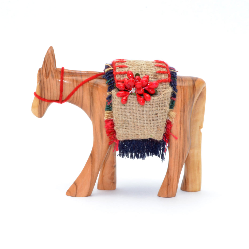 Olive Wood Donkey Figures