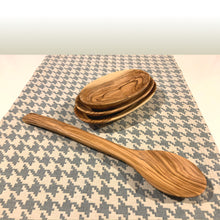 Load image into Gallery viewer, Handcrafted Olive Wood Straight Spoon with Oval Bowls