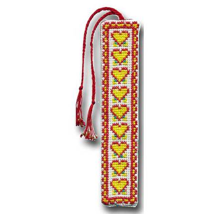 From the Heart Bookmark - Yellow and Red