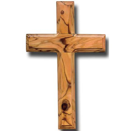 Olive Wood Latin Wall Cross