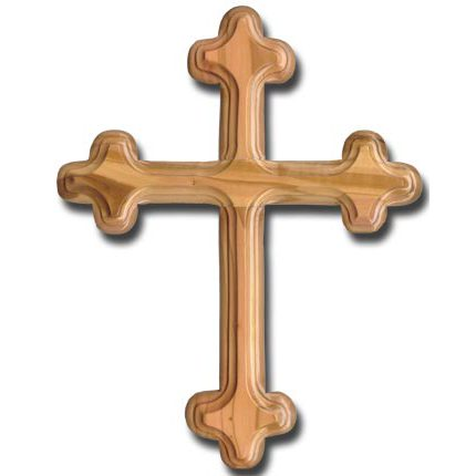 Olive Wood Budded Wall Cross