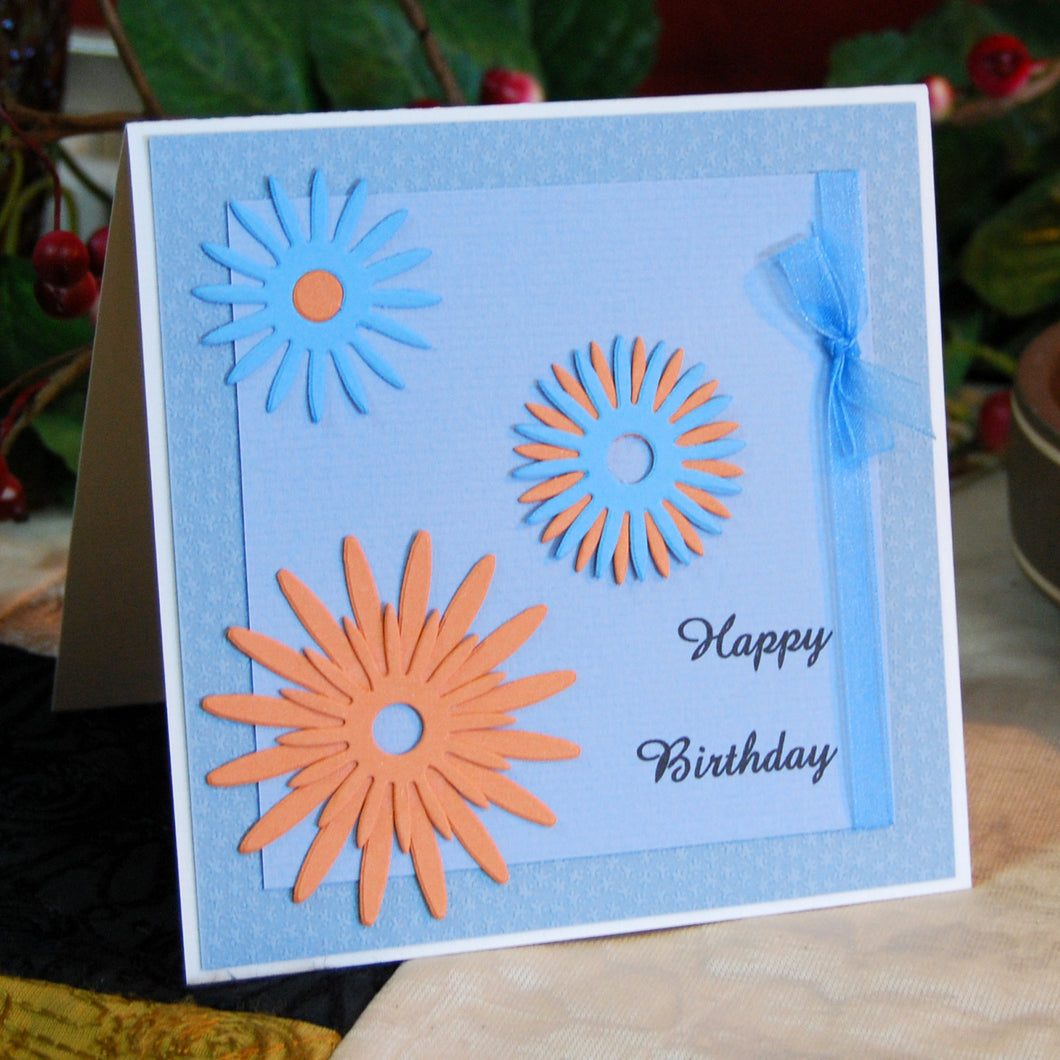 Starburst Handmade Birthday Card