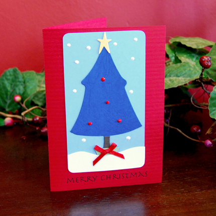 Charlie Brown Tree Handmade Card