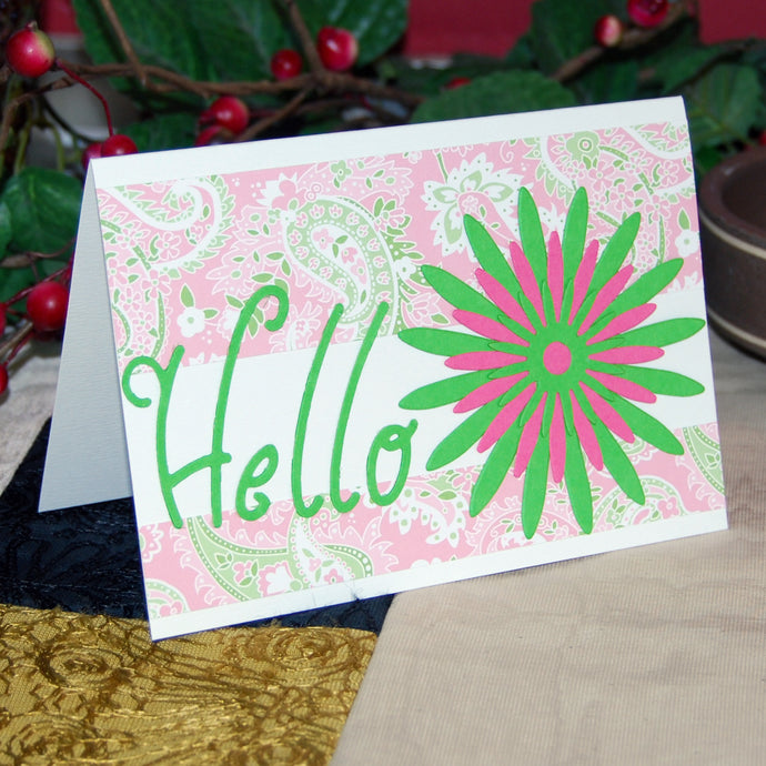 'Hello' Handmade Card