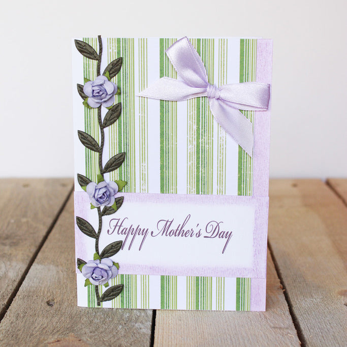 Purple Vine Mother's Day Handmade Card