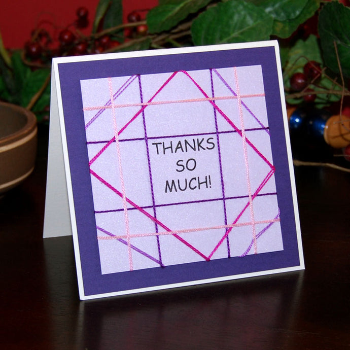 'Thanks So Much' String Art Handmade Card