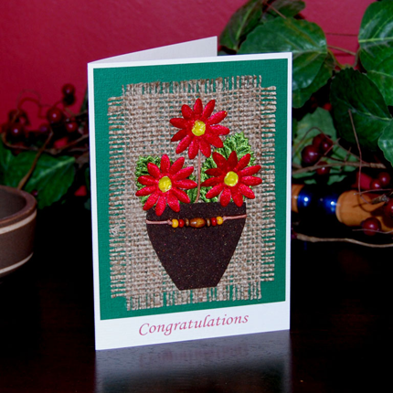 Flowers Blooming Congrats Handmade Card