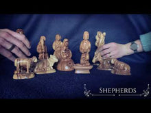 Load and play video in Gallery viewer, Video of Handmade Heirloom Olive Wood Nativity Scene Figure Sets