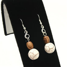 Load image into Gallery viewer, Sea Foam Howlite White Turquoise Earrings