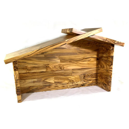 Heirloom Handmade Olive Wood Nativity Stable