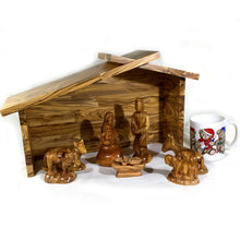 Load image into Gallery viewer, Olive Wood Nativity Stable