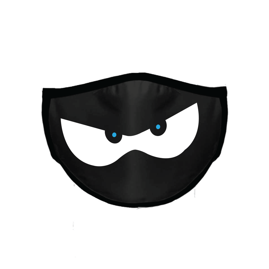 Ninja Kidz Face Mask - Black Ninja Eyes ©