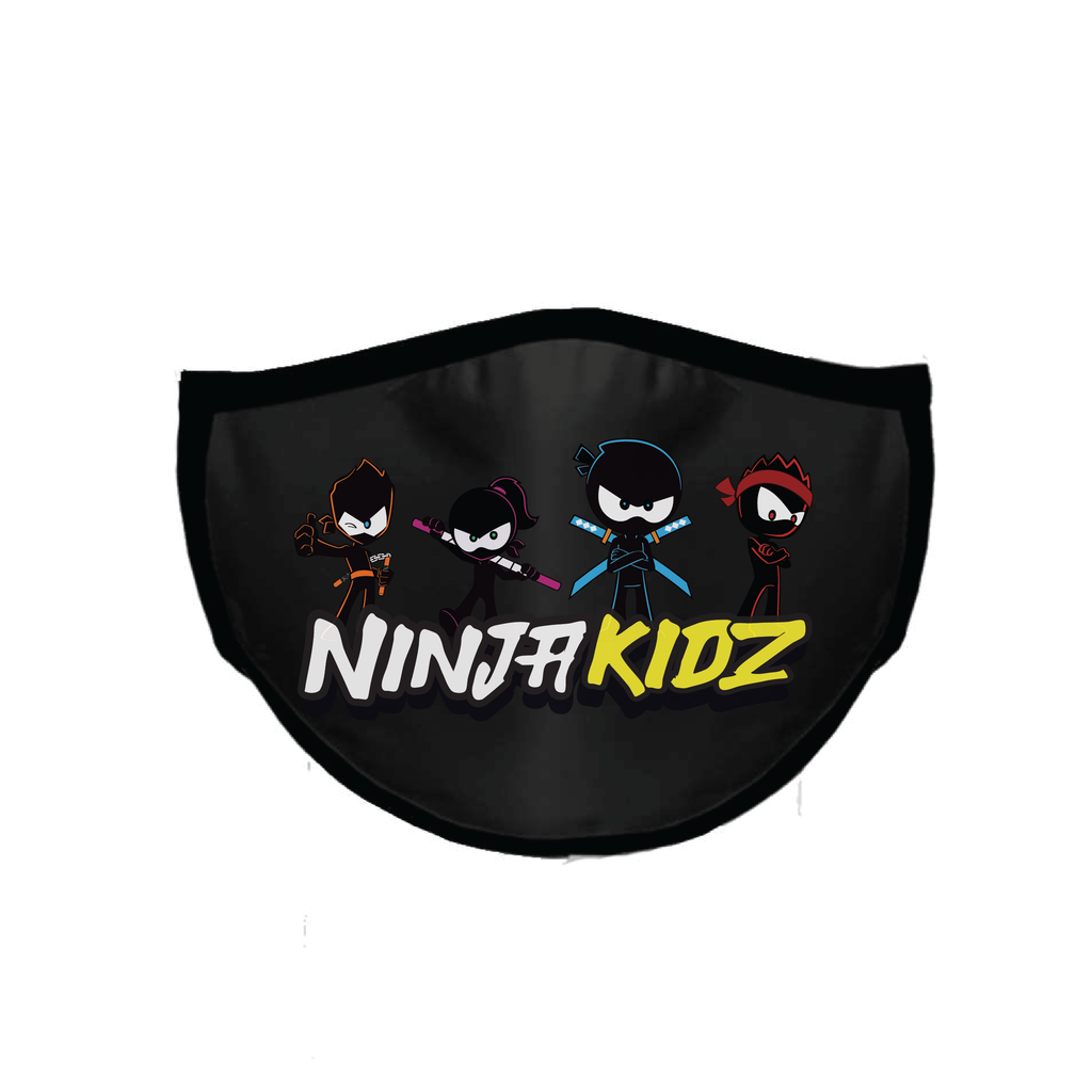 Ninja Kidz Face Mask Black - Team ©