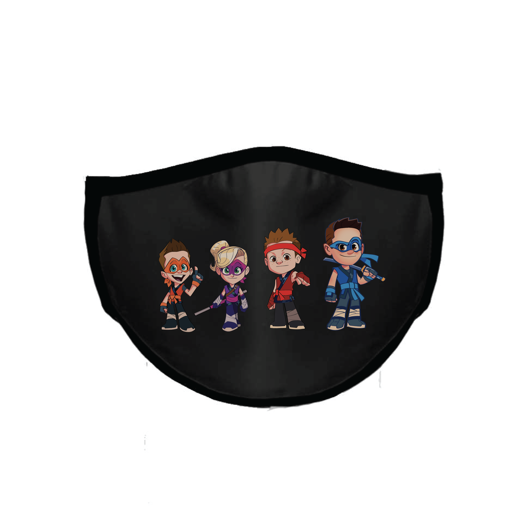 Ninja Kidz Face Mask Black - Cartoons ©