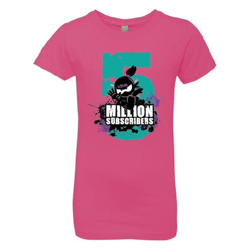 5 Million Subscribers Girl Tee - Big Five ©