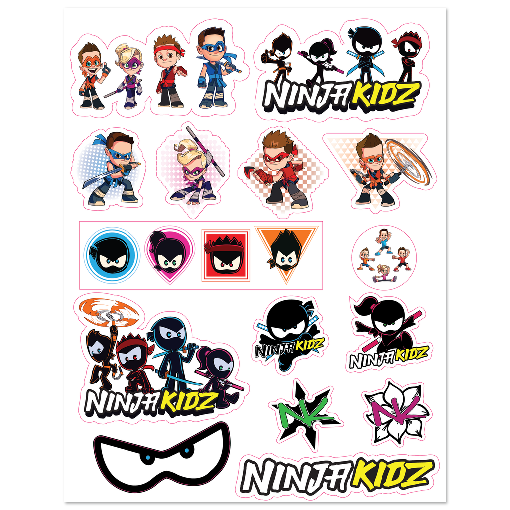 Ninja Kidz© Cartoon Decal Sheet ©