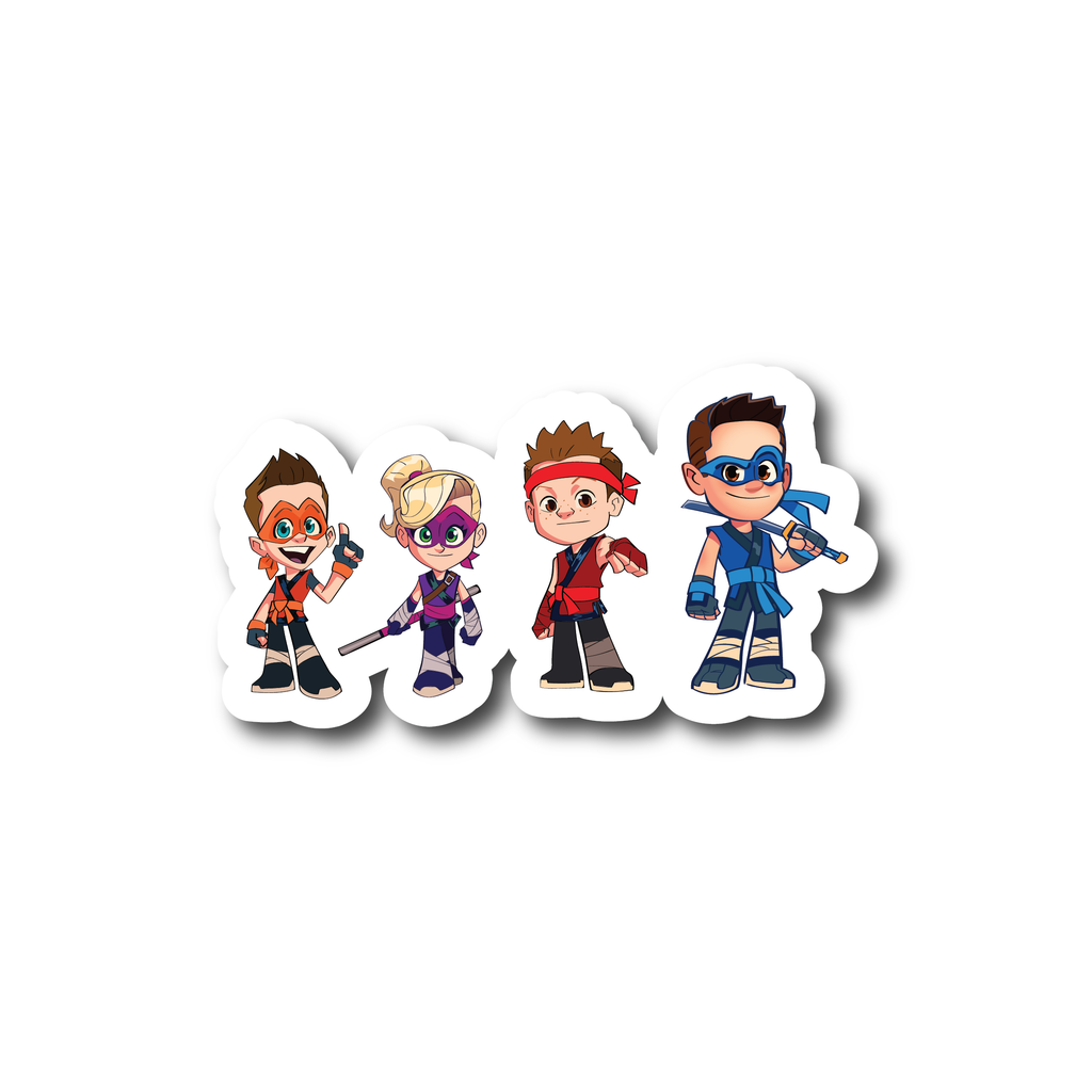 Ninja Kidz Cartoon Decals ©