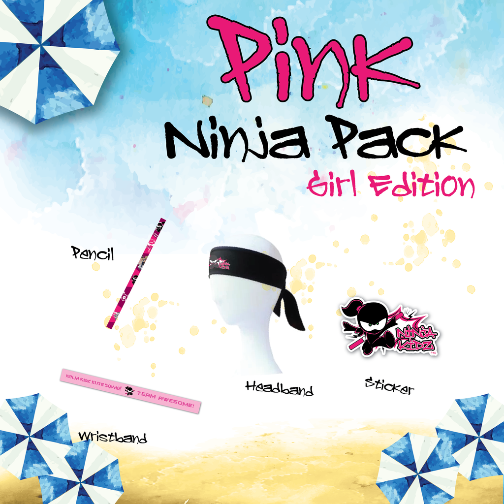 Pink Belt Ninja Pack Girls ©