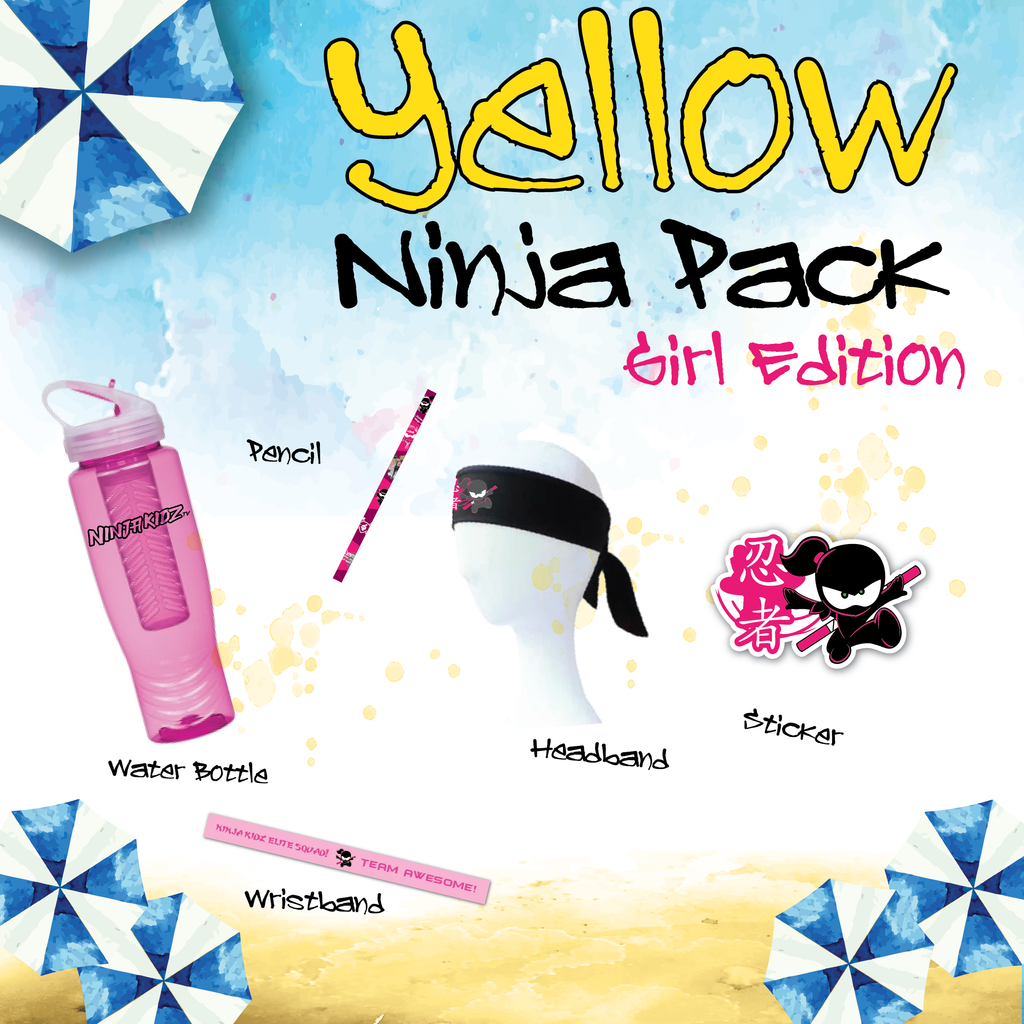 Yellow Belt Ninja Pack Girls ©
