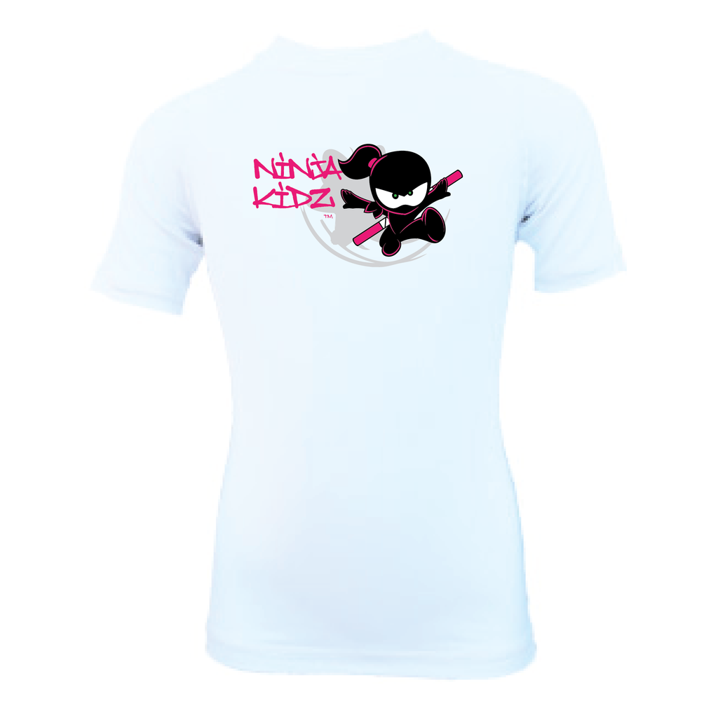 Ninja Kidz Flower Wet Effect®  Short Sleeve Rash Guard 3.0 ©