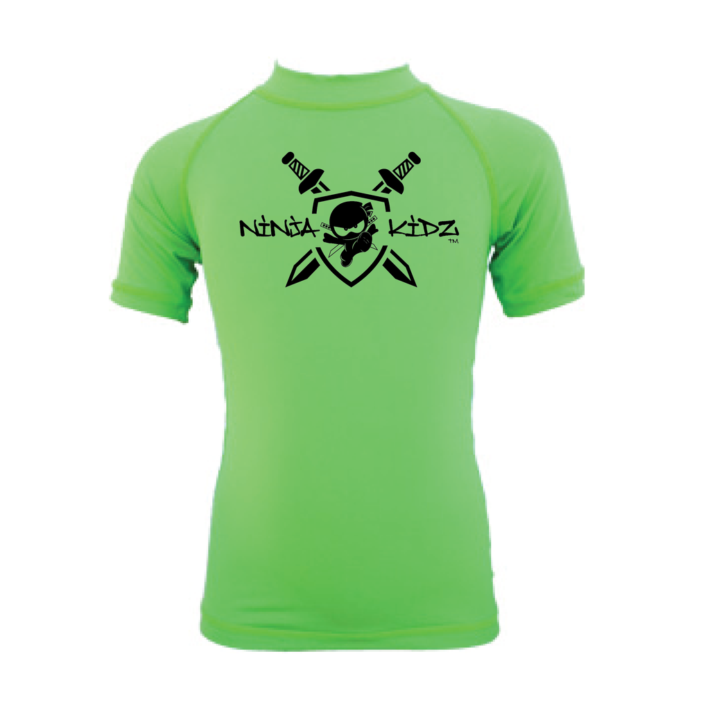 Ninja Kidz Shield Wet Effect®  Short Sleeve Rash Guard 3.0 ©