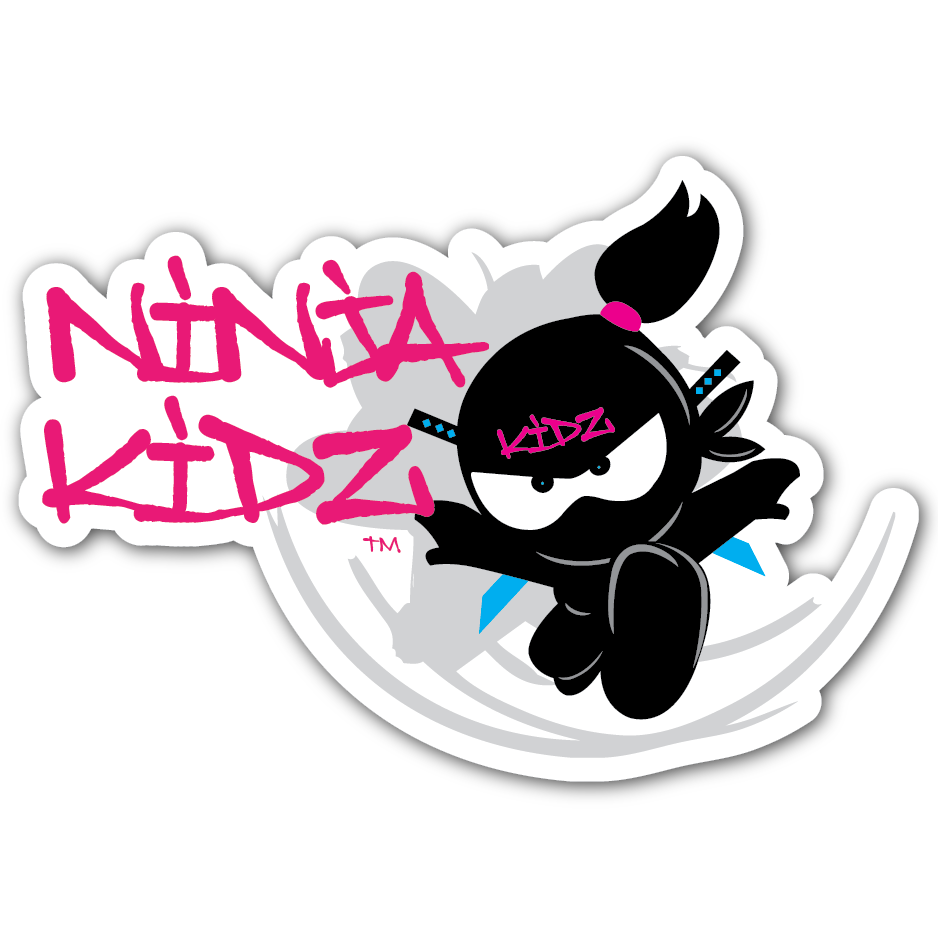 Ninja Kidz Girl Flower Decal ©