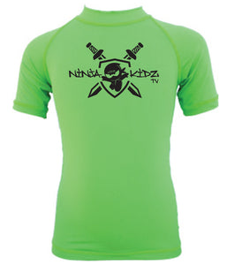 Ninja Kidz Shield Wet Effect®  Short Sleeve Rash Guard ©
