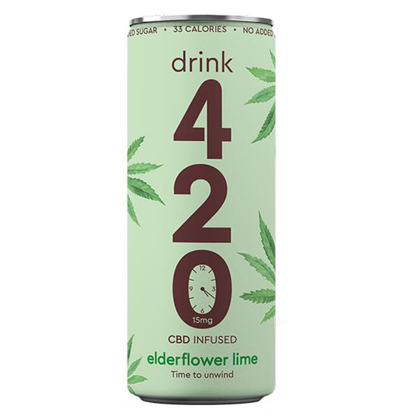 Elderflower & Lime 15mg CBD Drink