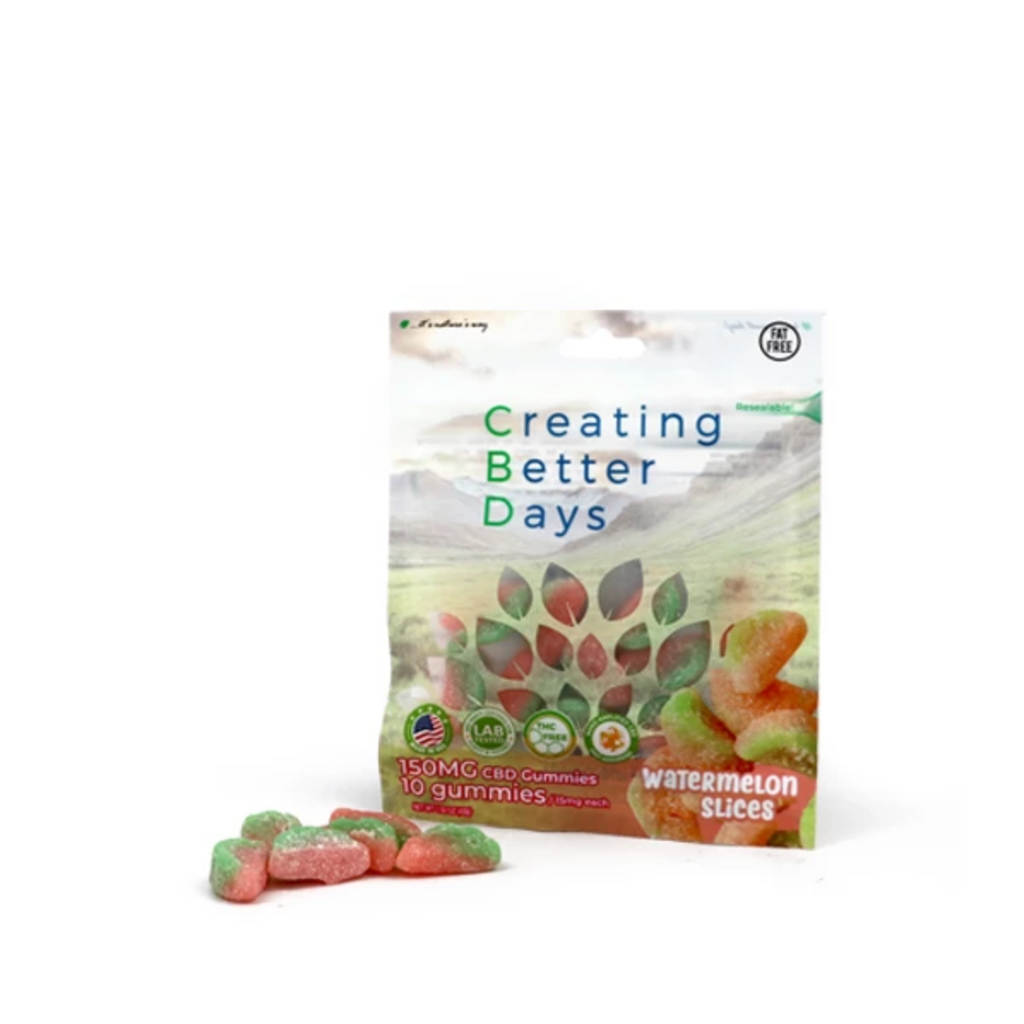 Creating Better Days 150mg Watermelon Slices Gummies