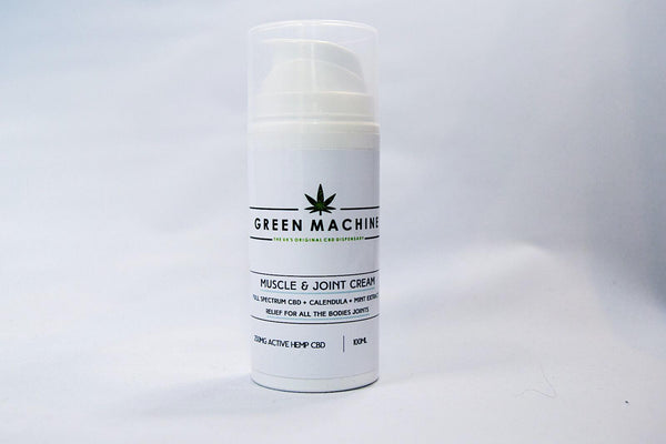 Green Machine CBD Muscle & Joint Cream 250mg (100ml)