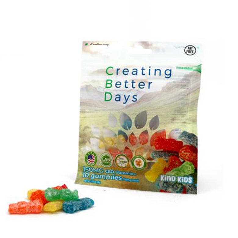 Vegan CBD Creating Better Days 150mg gummies