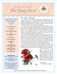 August Tea Cozy  eBooklet and MP3 Audio Conversation
