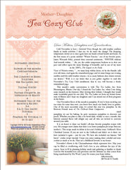 November Tea Cozy Booklet and Audio Conversation