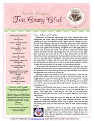 September Tea Cozy Booklet and Audio Conversation