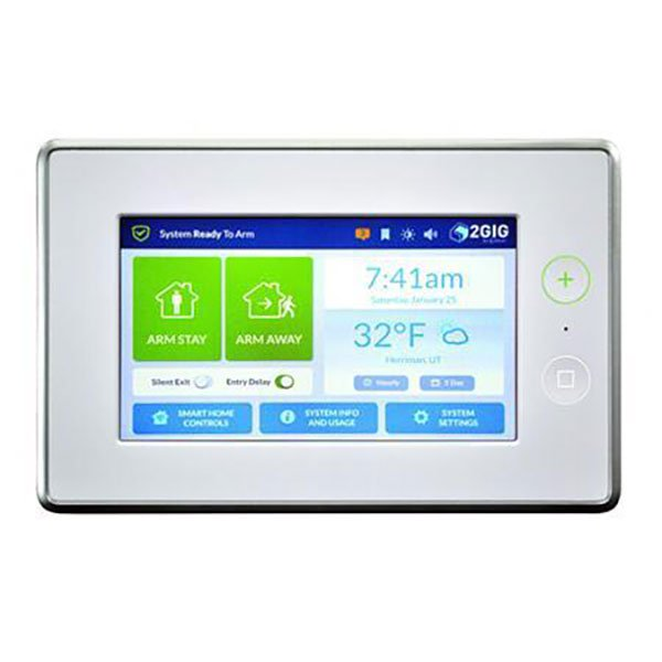 2GIG GC3 Control Panel with 4G LTE Cell Sled