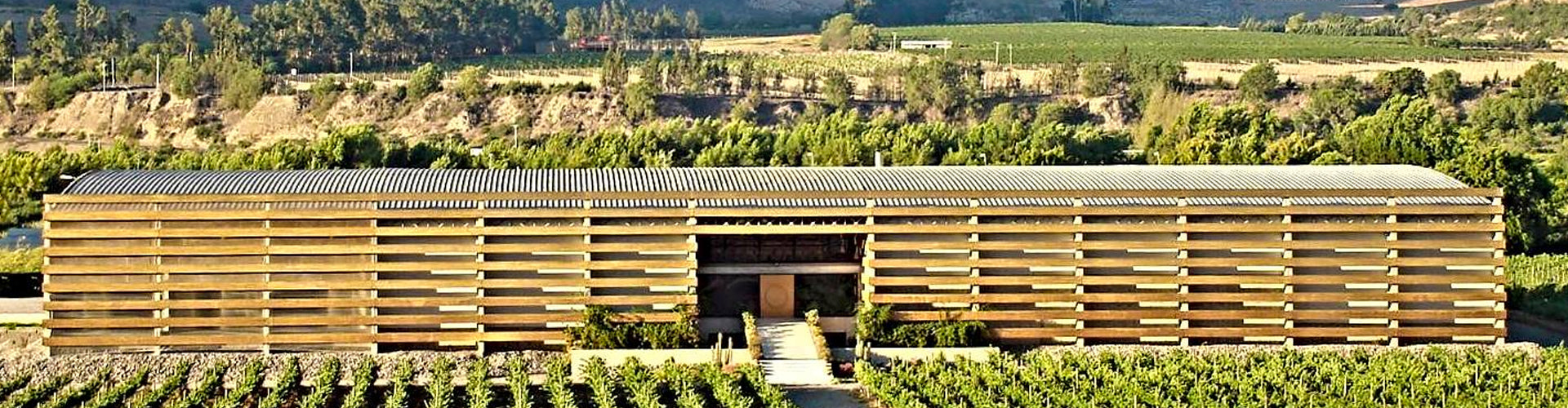 Viña Falernia Winery Building in the Elqui Valley