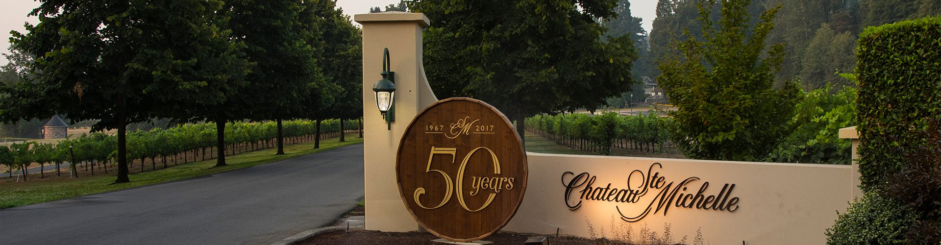 Chateau Ste. Michelle Winery Entrance Sign