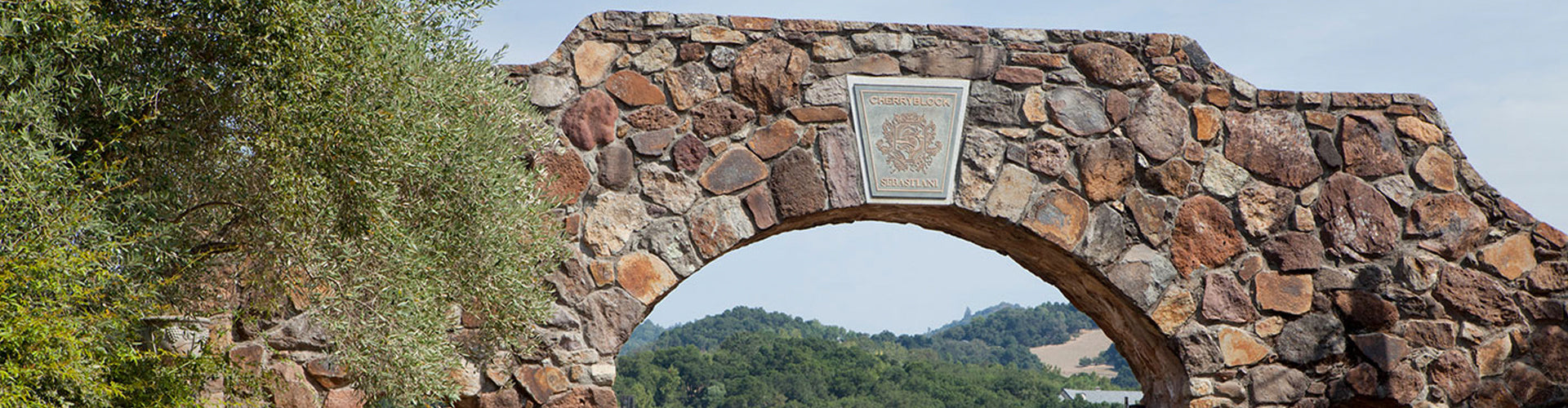 Sebastiani Vineyards Stone Entrance Archway