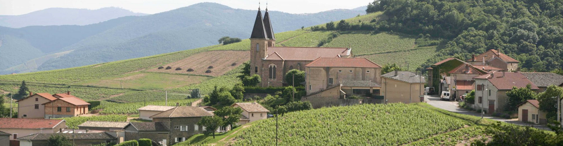 The village of Morgon in Beaujolais