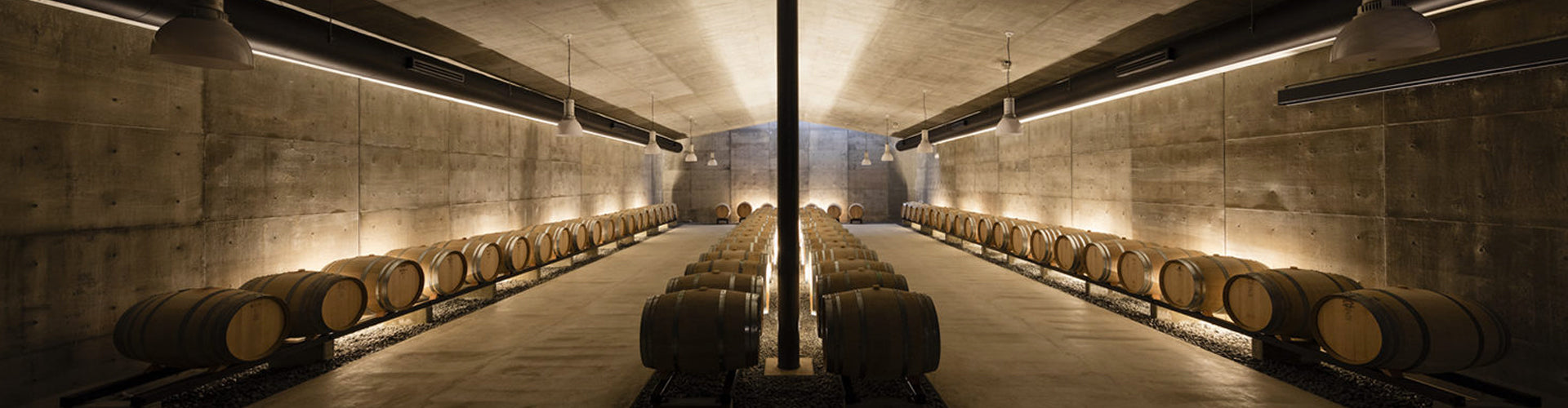 The barrel hall at Grace Wine in Japan