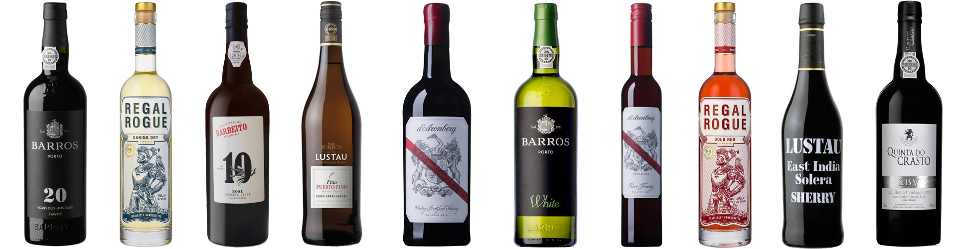 Fortified Wine Bottles Including Port, Sherry, Vermouth & Madeira