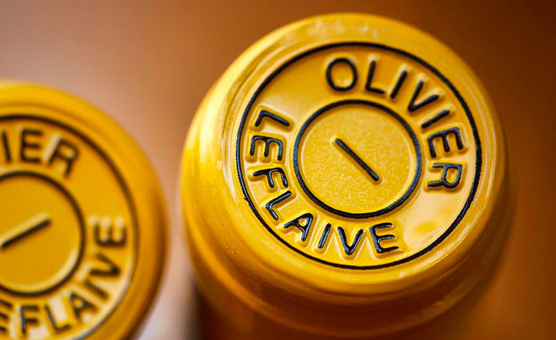 Close up Image of Olivier Leflaive Wine Bottle Capsules